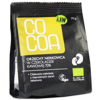 ORZECHY NERKOWCA W SUROWEJ CZEKOLADZIE B IO 70 g - COCOA