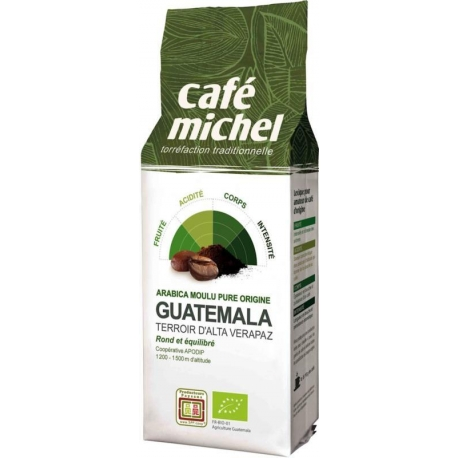 KAWA MIELONA ARABICA GWATEMALA FAIR TRAD E BIO 250 g - CAFE MICHEL