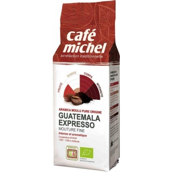 KAWA MIELONA ARABICA 100 % ESPRESSO GWAT EMALA FAIR TRADE BIO 250 g - CAFE MICHEL