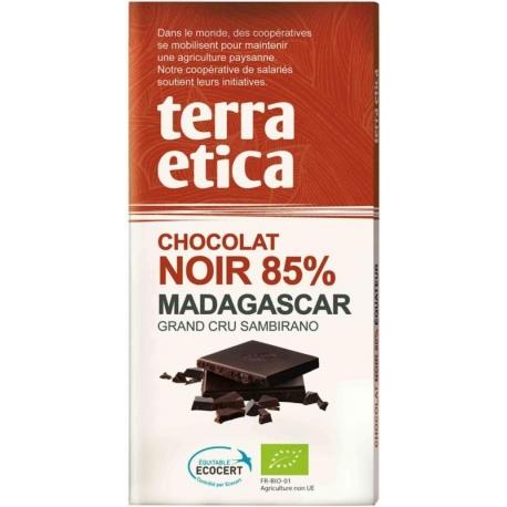 CZEKOLADA GORZKA 85% MADAGASKAR FAIR TRA DE BIO 100 g - TERRA ETICA