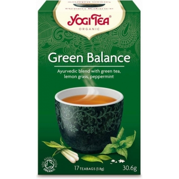 HERBATA ZIELONA RÓWNOWAGA (GREEN BALANCE ) BIO (17 x 1,8 g) 30,6 g - YOGI TEA