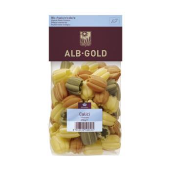 MAKARON (SEMOLINOWY TRÓJKOLOROWY) CALICI  (TULIPAN) BIO 250 g - ALB GOLD