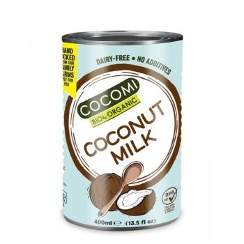 COCONUT MILK - NAPÓJ KOKOSOWY W PUSZCE ( 17% TŁUSZCZU) BIO 400 ml - COCOMI