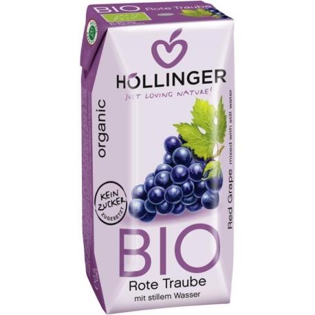 NAPÓJ Z CZERWONYCH WINOGRON BIO 200 ml -  HOLLINGER