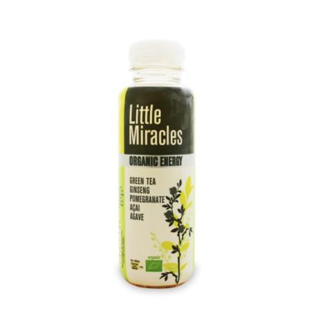 NAPÓJ ENERGETYZUJĄCY O SMAKU ZIELONEJ HE RBATY BIO 330 ml - LITTLE MIRACLES