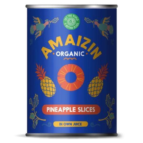 ANANAS PLASTRY (PUSZKA) BIO 400 g - AMAI ZIN
