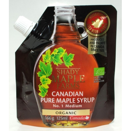 SYROP KLONOWY B BIO 166 g (125ml) - SHAD Y MAPLE FARMS