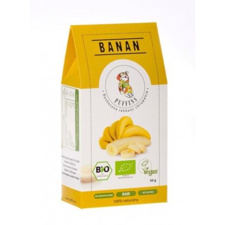 BANAN SUSZONY BIO 50 g - PUFFINS