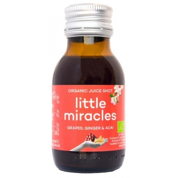 SHOT OWOCOWY WINOGRONO-IMBIR-ACAI BIO 60  ml - LITTLE MIRACLE