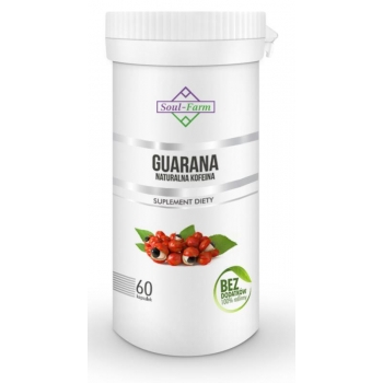 GUARANA EKSTRAKT 500mg 60 KAPSUŁEK - SOU L FARM