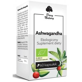 ASHWAGANDA BIO 60 KAPSUŁEK (520 mg) - DA RY NATURY