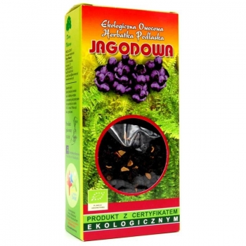 HERBATKA JAGODOWA BIO 100 g - DARY NATUR Y