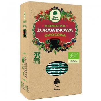 HERBATKA ŻURAWINOWA BIO (25 x 2,5 g) - D ARY NATURY