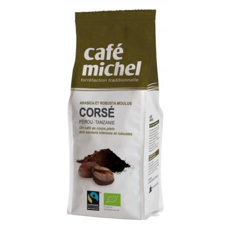 KAWA MIELONA ARABICA/ROBUSTA FAIR TRADE  BIO 250 g - CAFE MICHEL
