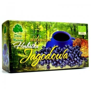 HERBATKA JAGODOWA BIO (20 x 3 g) - DARY  NATURY